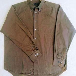 Banana Republic Button Down Shirt, Long Sleeve, 3XL, Iridescent Green/Purple